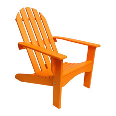 The Outdoor Chair   Poly Adirondack Chair Casual Design, Orange   Adirondack  Chairs