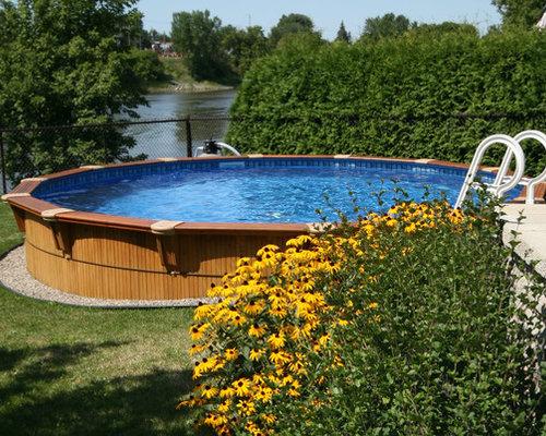 piscine ronde semi creus e round semi in ground pool. Black Bedroom Furniture Sets. Home Design Ideas