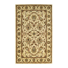 Gilded Rectangular Hand-Tufted Rug, Ivory, 2'x8' Runner