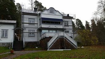 Skivtäckning på villa i Pilsbo