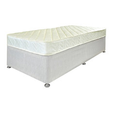 Quattro Mattress and Platform Divan Bed Set, Beige, Single