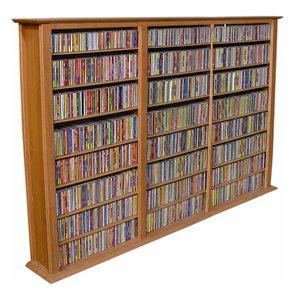Grande Locking Media Storage Cabinet With Shaker Doors