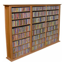 venture horizons store media storage tower regular triple oak media racks and