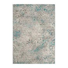 Steller Vintage Inspired Rug, Grey and Light Blue, 152x243 Cm
