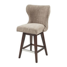 Madison Park Hancock Wingback Upholstered 27-inch Swivel Counter Stool With Nailhead