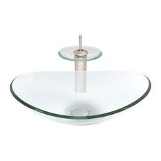 Chiaro Glass Vessel Sink Set