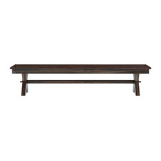 Westside Contemporary Picnic Style Solid Hardwood Double X Bench