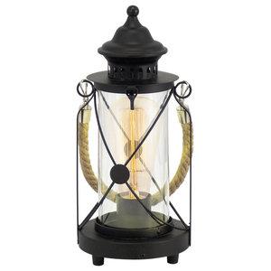 Eglo Vintage Rope Table Lamp, Black