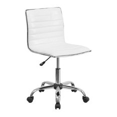 Flash Furniture   Soros Ribbed Task Chair, White   Office Chairs