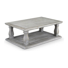1st Avenue - Hastings Gray Wash Farmhouse Coffee Table - Coffee Tables