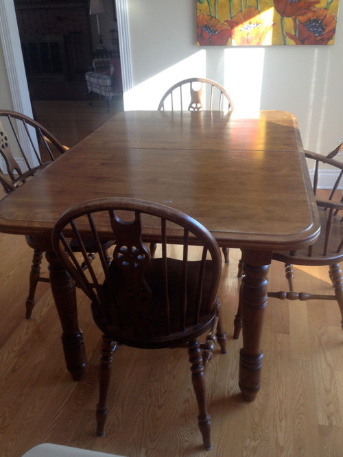 table legs  restain or paint