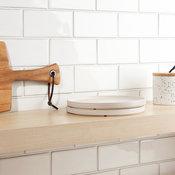 """Delphi Subway 3""""x6"""" Ceramic Tile (4 sqft/ box), Natural White"""