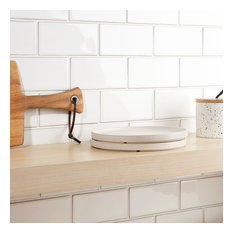 "Delphi Subway 3""x6"" Ceramic Tile (4 sqft/ box), Natural White"