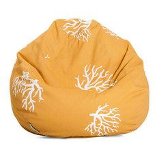 Outdoor Yellow Coral Small Bean Bag
