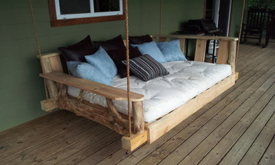 Ideal Contemporary Porch Swings by Etsy