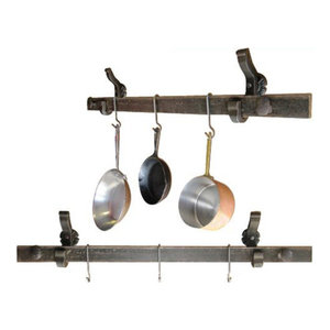 Rail Anchor Pot and Pan Rack, Wall Mounted