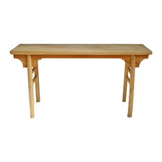 Raw Elm Console Table