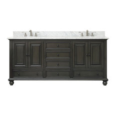 "Avanity Thompson 73"" Double Vanity, Charcoal Glaze Finish"