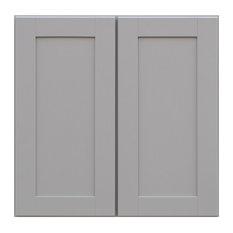 "Sunny Wood GSW3030-A Grayson 30""W x 30""H Double Door Wall Cabinet - Dove Gray"