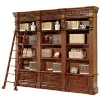 Granada 3-Piece Museum Bookcase, Antique Vintage Walnut