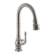 Single Lever Kitchen Faucet, Magnetic Pull Down Sprayer, Rotating High Arc, Poli