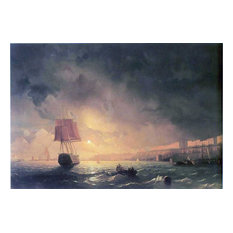 Ivan Constantinovich Aivazovsky View of Odessa by Moonlight Gallery Wrap Canvas