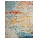 Nourison - Nourison Celestial Contemporary Area Rug, Sealife, 10'x14' - Cosmic consciousness inspires the Celestial Collection by Nourison. These heavenly area rugs possess a dramatic beauty, with rich, saturated colors that swirl together in unique and vivid designs. Each stunning area rug conveys a sense of movement and energy that verges on divine. Like coral reefs along a sandy shoreline, this supremely breathtaking Celestial area rug by Nourison is awash with color. It seems to teem with oceanic life as its deep blues, vivid red-orange and gleaming yellow tones flow beautifully from one to the other.