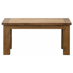 Traditional Stylish Bench, Solid Pine Wood With Rough Sawn Finish