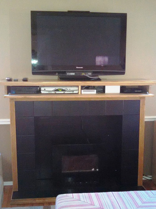 Fireplace Mantel with Storage - Products