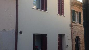 Ristrutturazione di edificio di 5 piani sulle mura storiche di Recanati