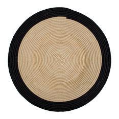 Black Circle Plate
