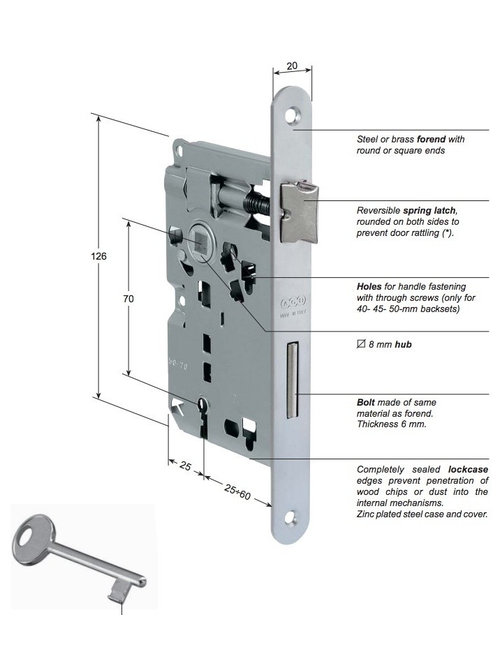 Patent Piccola Lock For Internal Door By AGB   Home Improvement