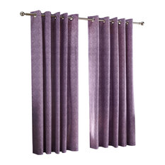 J Rosenthal & Son - Hanworth Blackout Lined Eyelet Curtains, Purple, 170x185 cm - Curtains