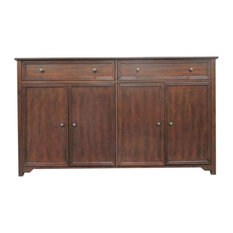 "60"" Wide Chestnut 2-Drawer Wood Buffet"