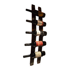 Wine Stave Wine Rack With Steel Banding
