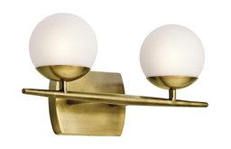 Kichler Lighting 45581NBR Jasper Bathroom Light, Natural Brass