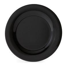 "10.5"" Wide Rim Plate, Set of 4, Black"
