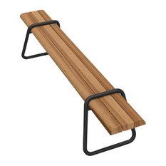 Clipboard Bench, Black, Cumaru Wood, Garden Furniture