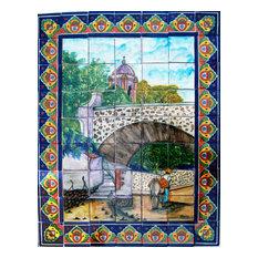 Ped Bridge. Clay Talavera Tile Mural