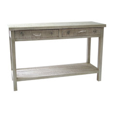 Crestview Collection   Seaside White Coastal Console Table   Console Tables