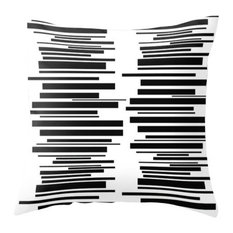 Modern Midcentury Inspired Accent Pillow, Black and White
