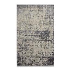 Cordoba Textured Dark Grey Floor Rug, 190x130 cm