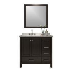 Atlas International Inc Cambridge 37 Single Sink Vanity Set Espresso