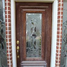 exterior stain door refinish