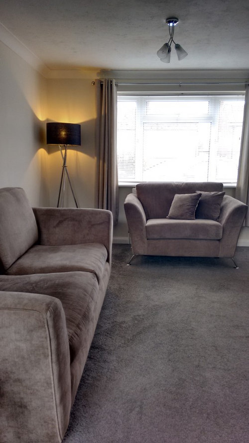 Grey Carpet Taupe Sofa