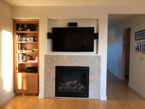 Need Ideas For Fireplace Mantel With Tv Mounted On The Top