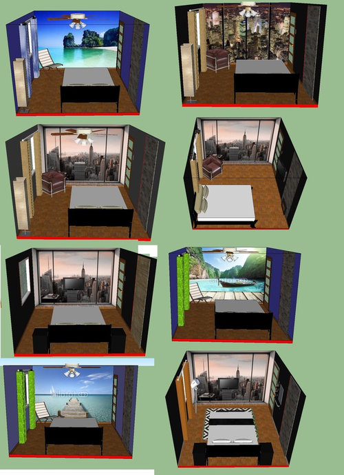 Admirable Small Bedroom Layout 11X12 1 Window 1 Entrance Door 1 Interior Design Ideas Tzicisoteloinfo