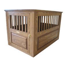 Malm Woodturnings   Wooden Dog Crate Medium Cherry, Walnut, Large, 45