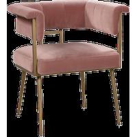 Astrid Velvet Chair, Blush