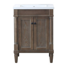 Legion Furniture Marjorie Vanity, Weathered, 24""